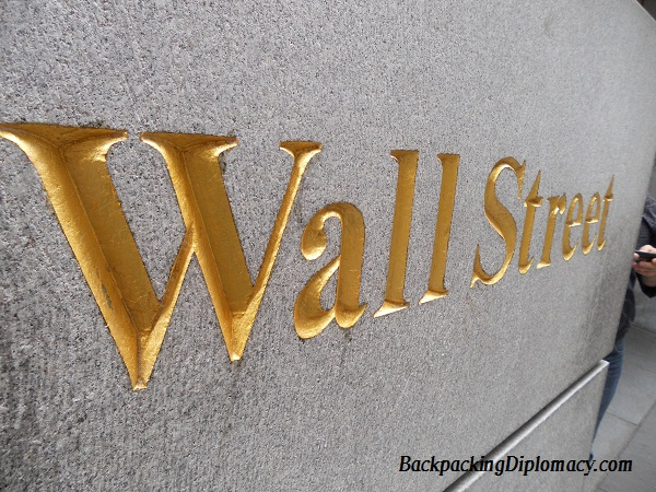 Wall street in gold letters backpacking diplomacy for Gold letters for wall