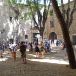 A famous Plaza in Barrio Gotica.  A bomb was dropped here during the War, which killed many children.  Famous movies have been filmed from this Plaza including Vicky Cristina Barcelona and the music video for My Immortal.