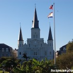St. Josephs Cathedral in Jackson Square.  The cabildo is the building to the left of the Cathedral.  St. Joseph's Cathedral is one of the most famous landmarks in Louisiana.