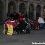 Tarot readers near the Cabildo in the New Orleans French Quarter.
