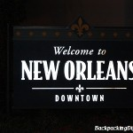 Welcome to New Orleans Downtown sign.