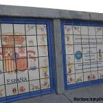 La plaza españa nueva orleans.  Spanish plaza New Orleans.  There is a tribute to the many regions of Spain.  Hay un tributo a las regiones de españa.