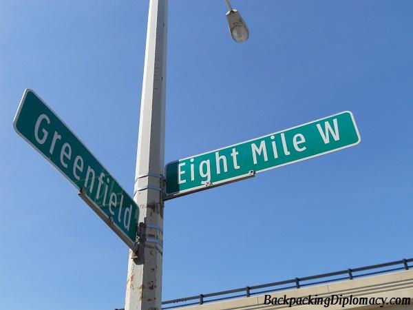 Mile road sign 8 mile road sign 8 mile road made famous by