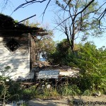 A burnt house in Detroit.