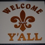 Welcome Y'all Fleur de lis