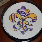 Fleur de lis eye of the tiger coasters