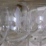 Fleur de lis wine glasses (Crystal)