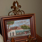 Fleur de lis picture frame with Cafe du monde