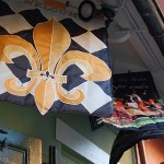 Fleur de lis flags in New Orleans