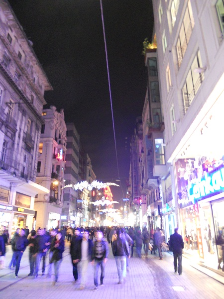 Istiklal Cadessi in Istanbul.  One of the most famous streets of Turkey.