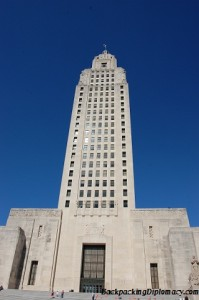 Baton Rouge state capitol building.  This is the tallest state capitol in the country.