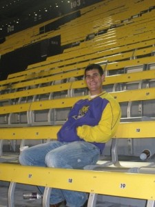 Me at an LSU game