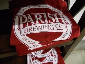 Parish Brewing t-shirts