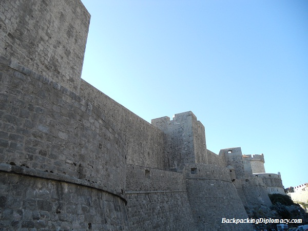 the old walls of Dubrovnik Croatia