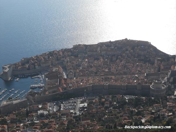 Overlooking old town Dubrovnik Croatia.