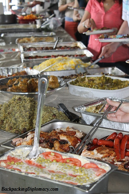 A lot of Persian food