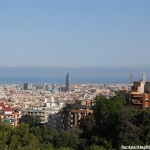 the skyline of barcelona
