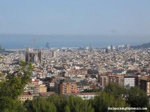 the sklyine of barcelona