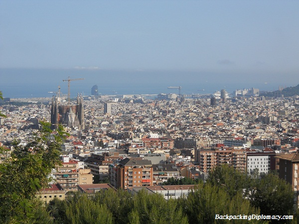 the sklyine of barcelona