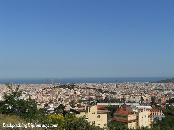 skyline of barcelona