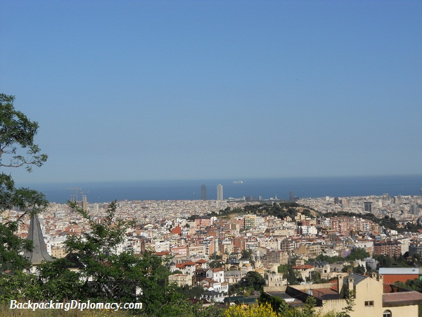 barcelona skyline in spain