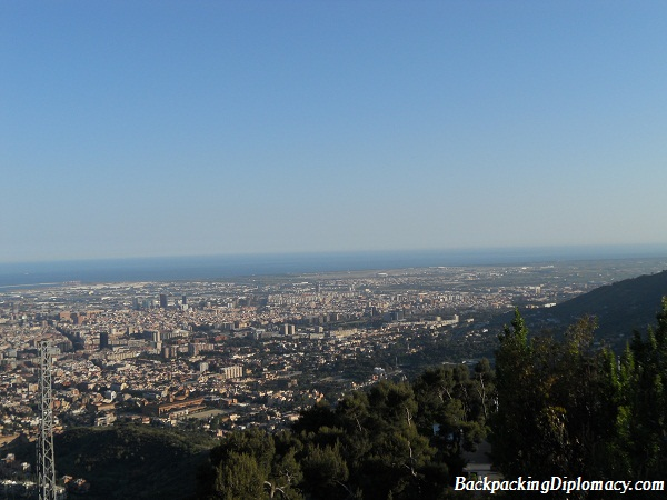 overlooking the city of barcelona