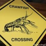 Crawfish crossing sign. Crawfish Xing sign.