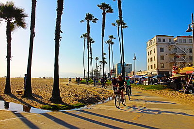 Enjoying Santa Monica