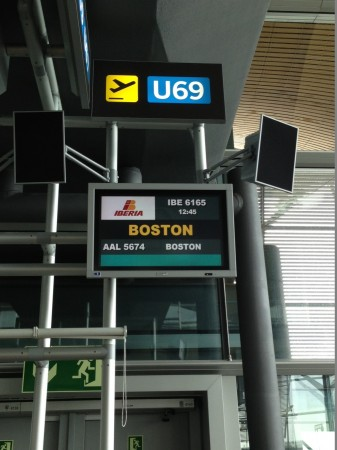 Boarding to Boston