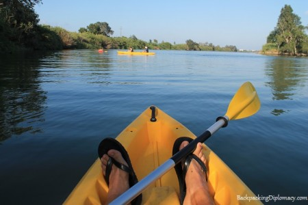 view from my kayak in spain