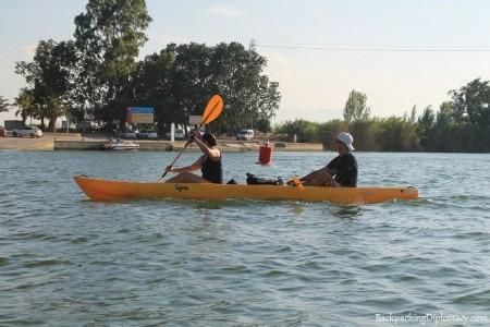 Kayaking in deltebre Catalunya spain.