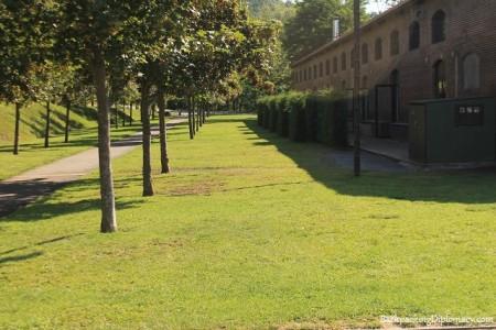 La empieza de la via verde en Sant Joan. Acerca de el alberg rural del ferro