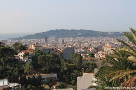 Insider tips barcelona. Montjuic from a distance.