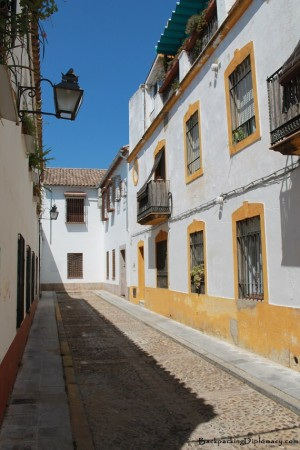Typical street in Cordoba Spain