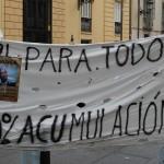 A protest banner in Valencia
