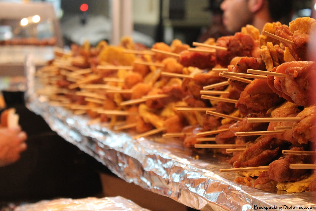A line of pinchos