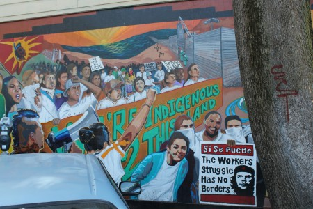 Si se puede. The worker's struggle has no borders.